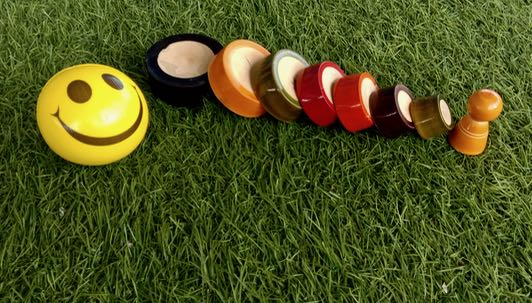 Lagori wooden game set