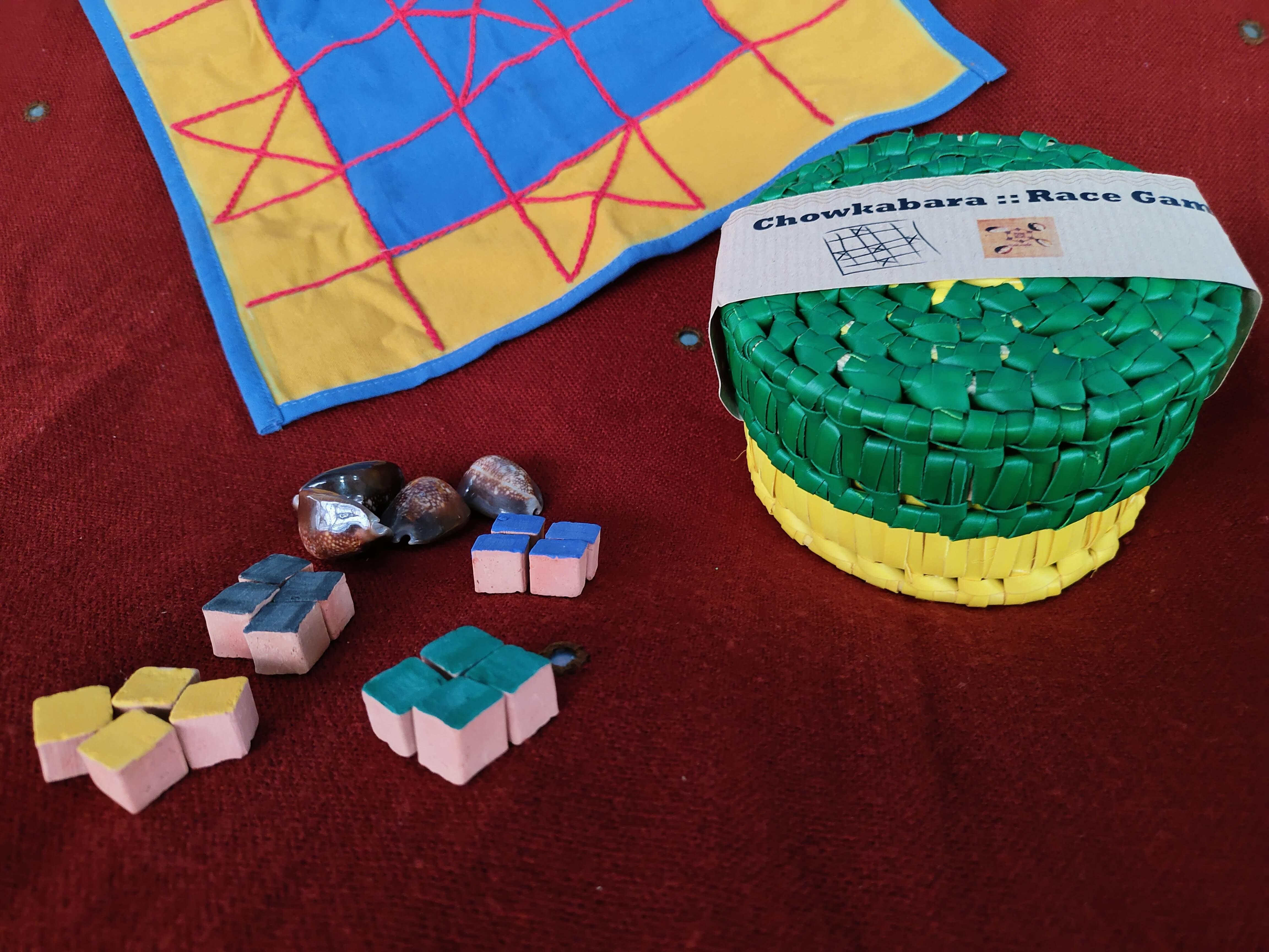 Chowkabara 5x5 game set-embroidered