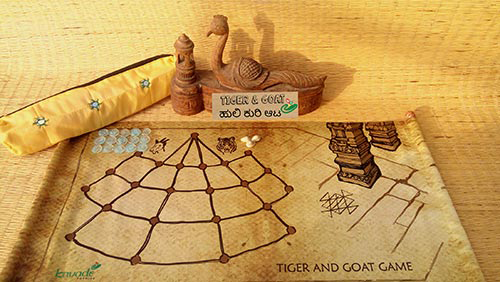 Tiger-Goat Game Set-Scroll
