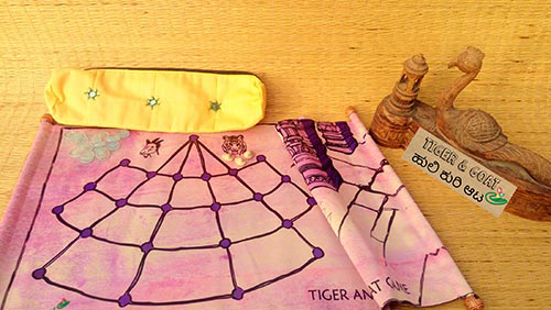 Tiger and Goat Game Set Scroll